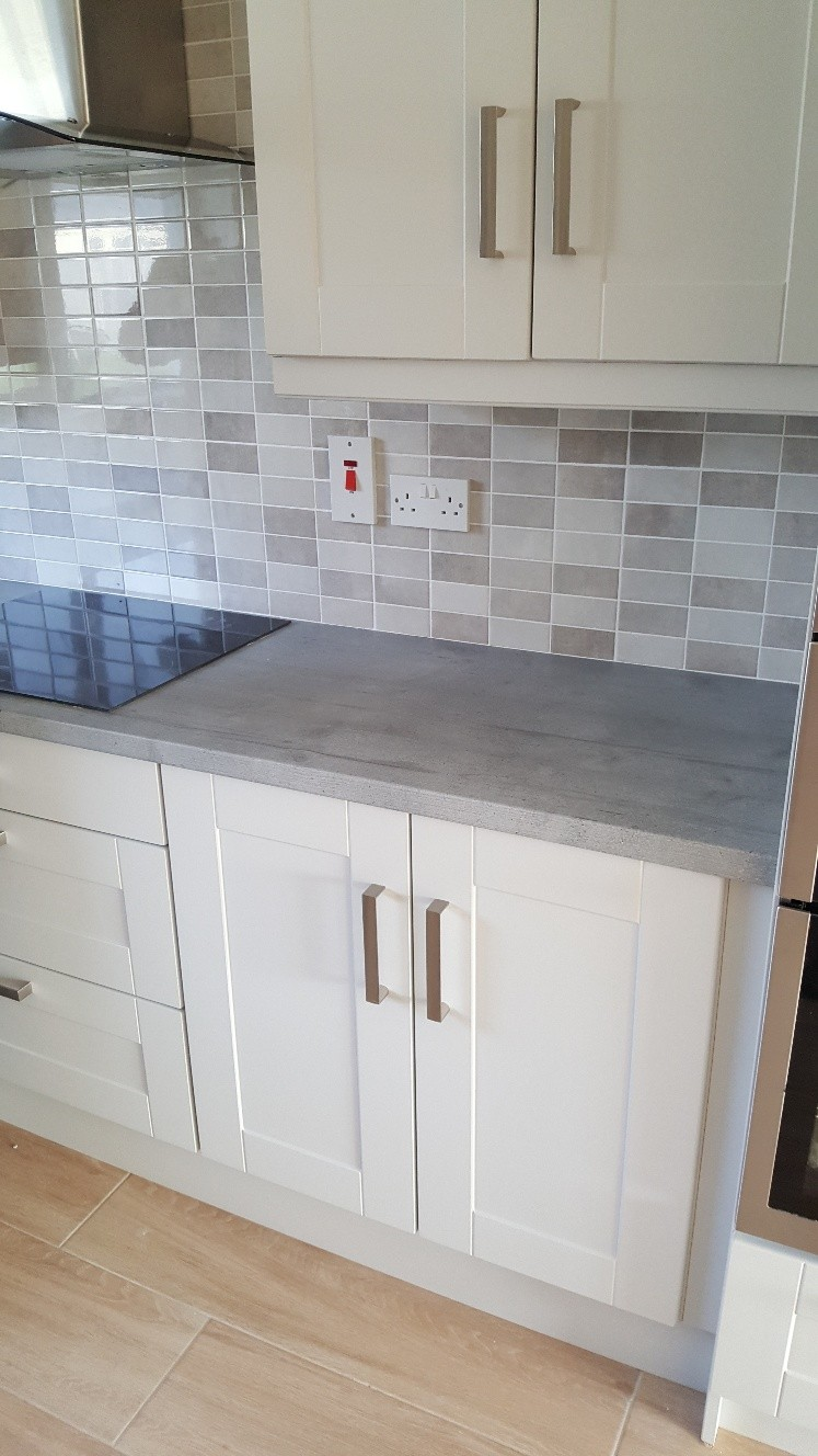 Kitchen wall tiles supplied and fitted by  North West Tiles & Timber, Leitrim, Ireland