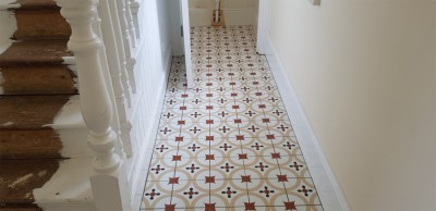 Patterned hallway floor tiles Carrick-on-Shannon, County Leitrim - supplied and installed by North West Tiles & Timber, Ireland
