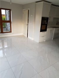Porcelain kitchen floor tiles in Cootehall, County Roscommon - supplied and installed by North West Tiles & Timber, Ireland