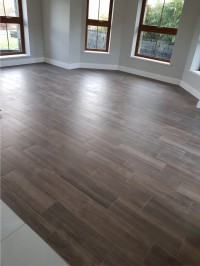 Timber effect floor tiles in sun room Cootehall, County Roscommon - supplied and installed by North West Tiles & Timber, Ireland