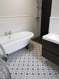 Traditional style bathroom installation in a Rooskey home by North West Tiles & Timber, Ireland